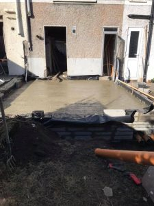 new home extension being done by Clancon Build construction